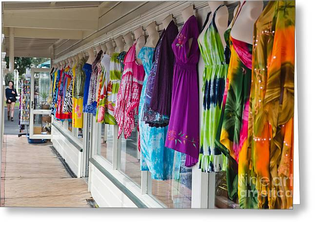 Purple Robe Photographs Greeting Cards - Colorful summer dresses Greeting Card by Yurix Sardinelly