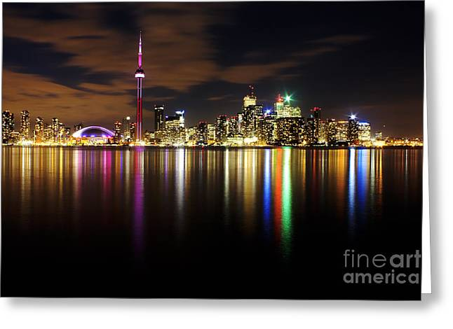 Matthew Greeting Cards - Colorful Toronto Greeting Card by Matt  Trimble