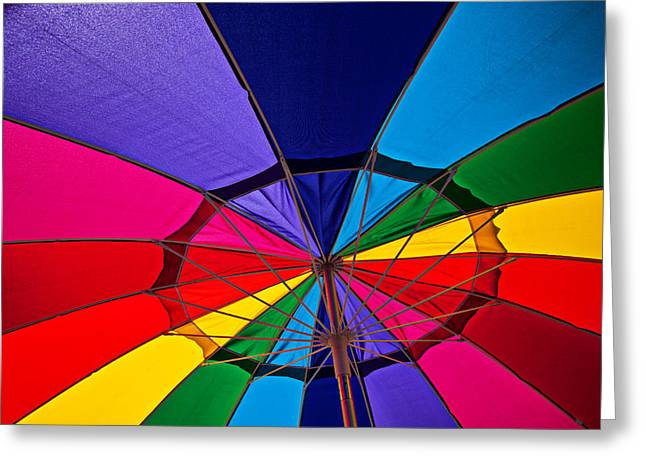 Colorful Umbrella Greeting Card by Garry Gay