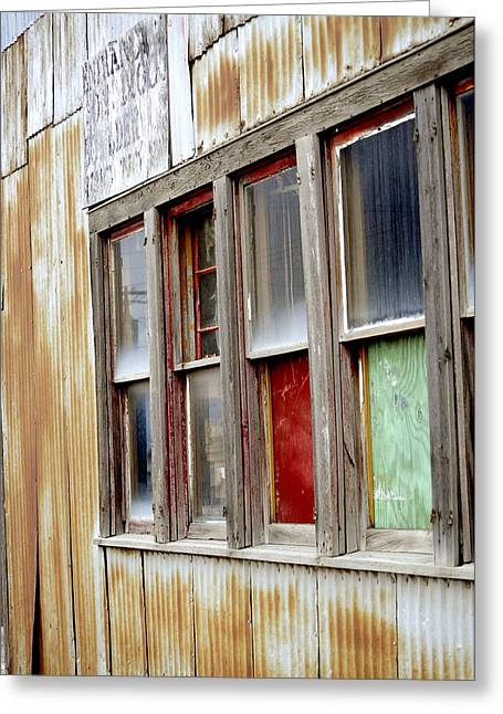 Colorful Windows Greeting Card by Fran Riley