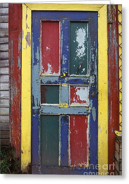 Colorful Wooden Door Greeting Card by Will & Deni McIntyre