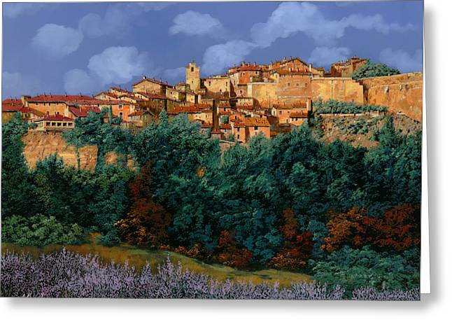 Aged Greeting Cards - colori di Provenza Greeting Card by Guido Borelli