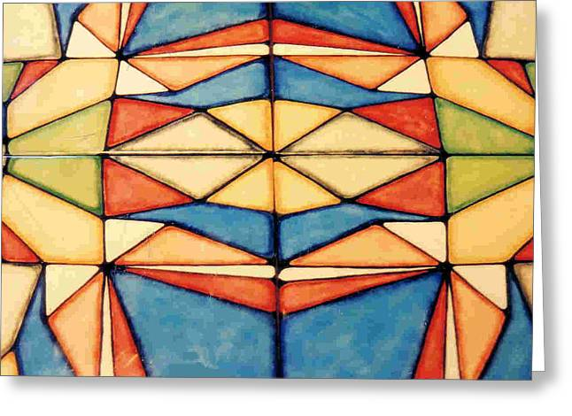 Designs Ceramics Greeting Cards - Colors Greeting Card by Dy Witt