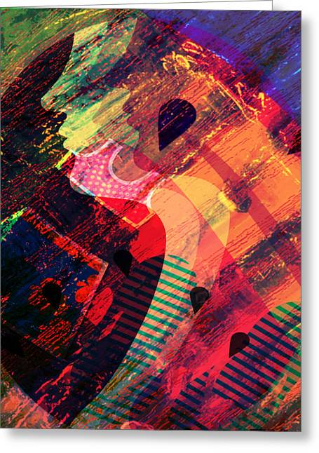 Liberation Greeting Cards - Colors in Transition Greeting Card by Fania Simon