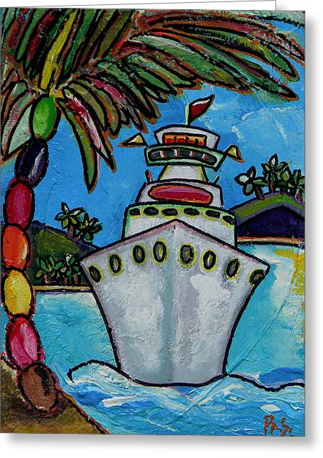 Palm Beach Greeting Cards - Colors of Cruising Greeting Card by Patti Schermerhorn