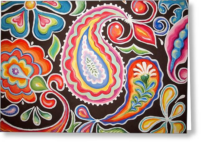 Colors of Happiness Greeting Card by Sandra Lett