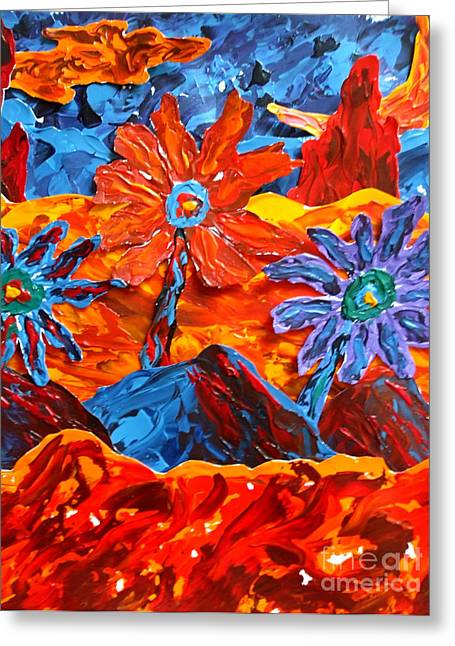 Paint Photograph Paintings Greeting Cards - Colors of Knowledge Greeting Card by Keith Blanchet