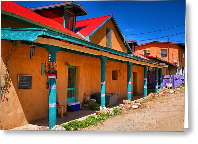 Taos Greeting Cards - Colors of New Mexico Greeting Card by Steven Ainsworth