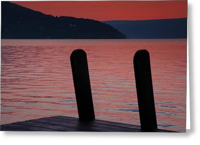 Keuka Greeting Cards - Colors Of The Approaching Dawn Greeting Card by Steven Ainsworth