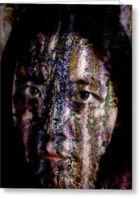 Painted Face Greeting Cards - Colors of the Wind Greeting Card by Christopher Gaston