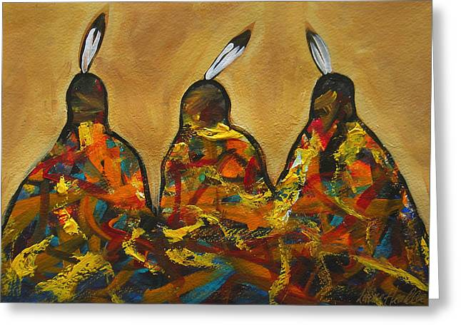 Contemporary Western Greeting Cards - Colors Of Three Greeting Card by Lance Headlee