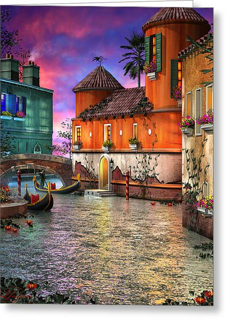 Colors Mixed Media Greeting Cards - Colors of Venice Greeting Card by Joel Payne