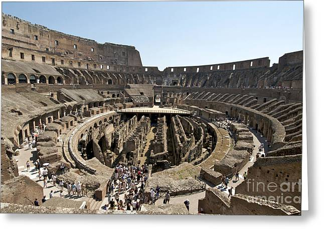 Sight Seeing Greeting Cards - Colosseum. Rome Greeting Card by Bernard Jaubert