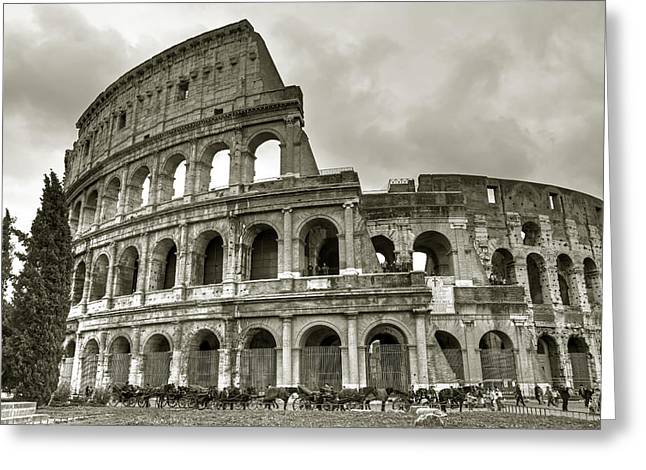 Carriage Greeting Cards - Colosseum  Rome Greeting Card by Joana Kruse