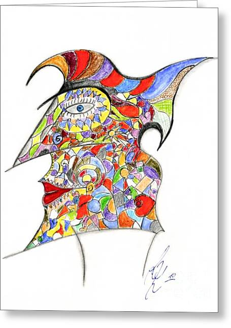 Jester Pastels Greeting Cards - Colour in mind Greeting Card by Peter Saltz