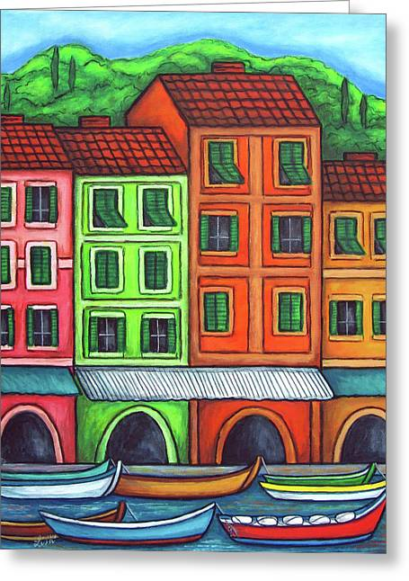 Portofino Italy Greeting Cards - Colours of Liguria Greeting Card by Lisa  Lorenz