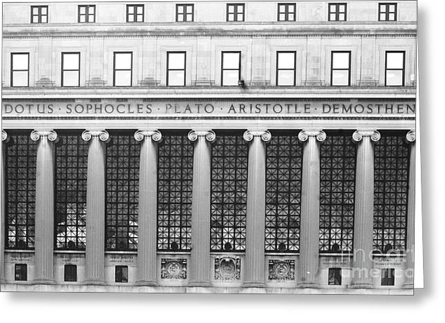 Classic Architecture Greeting Cards - Columbia University Library Greeting Card by Anahi DeCanio