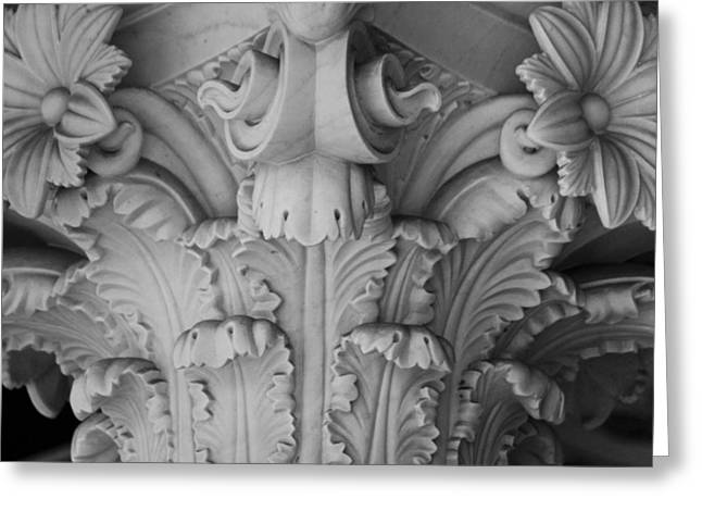 Getty Greeting Cards - Column Capital Detail 1 Greeting Card by Teresa Mucha