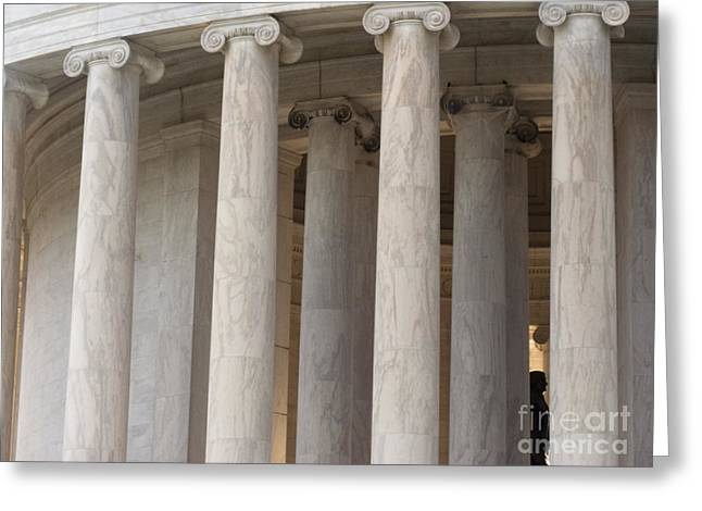 Jefferson Greeting Cards - Columns of the Jefferson Memorial Greeting Card by Tim Grams
