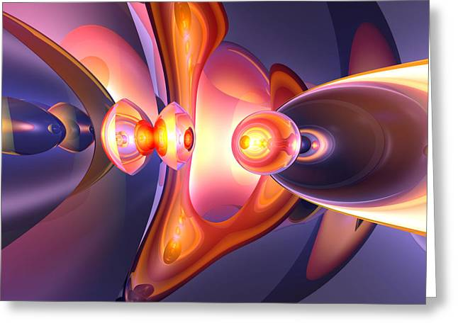 Combustion Abstract Greeting Card by Alexander Butler