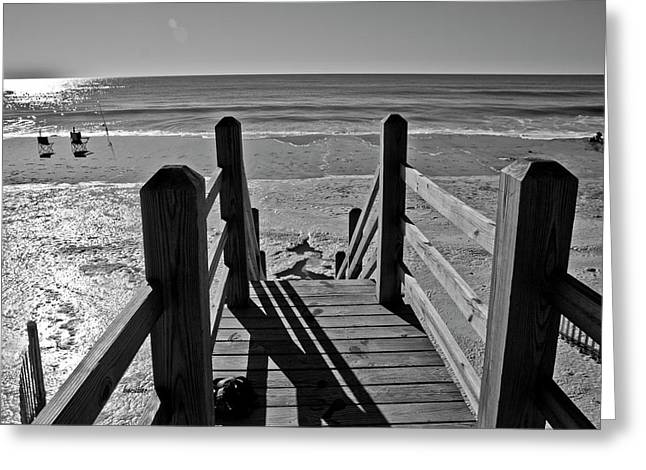 Topsail Island Greeting Cards - Come Down to My Level Greeting Card by Betsy A  Cutler