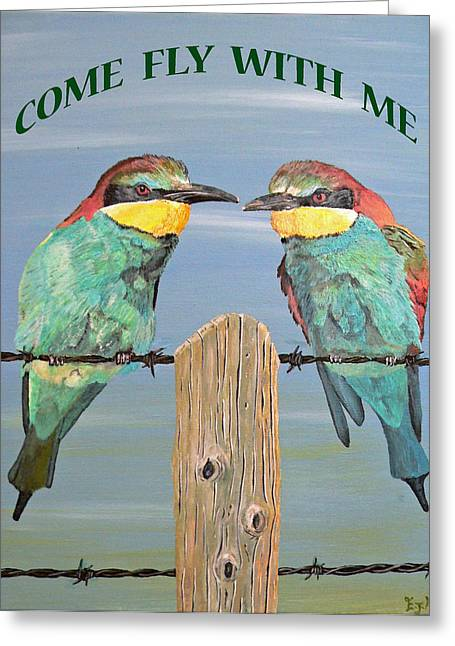 Come With Me Greeting Cards - Come Fly With Me Greeting Card by Eric Kempson