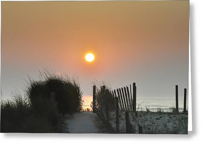 York Beach Greeting Cards - Come Greet the Sunrise Greeting Card by Bill Cannon