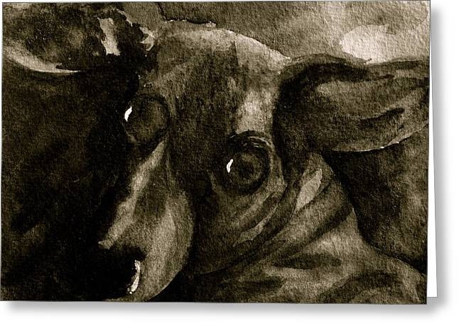 Come In Black And White Version Greeting Card by Beverley Harper Tinsley