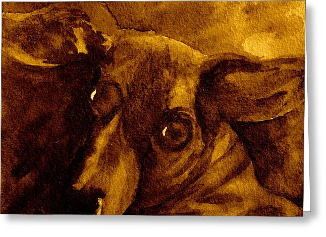 Come In Sepia Version Greeting Card by Beverley Harper Tinsley