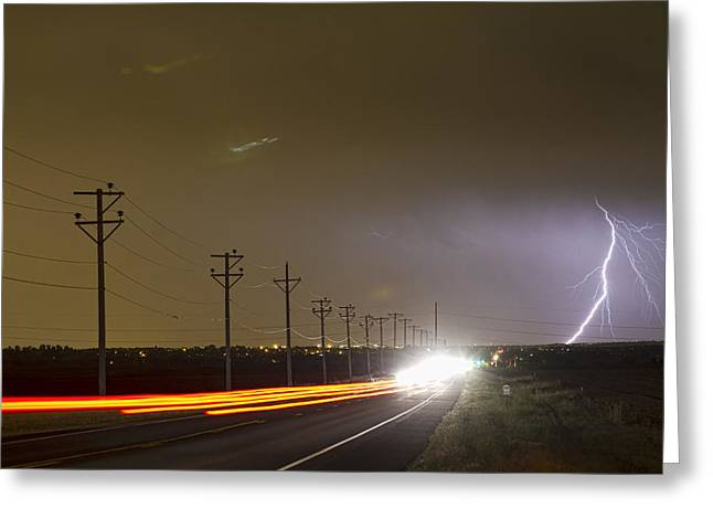 Images Lightning Greeting Cards - Come Into The Light Lightning Strike Greeting Card by James BO  Insogna