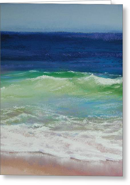 New England. Pastels Greeting Cards - Come on in Greeting Card by Jeanne Rosier Smith