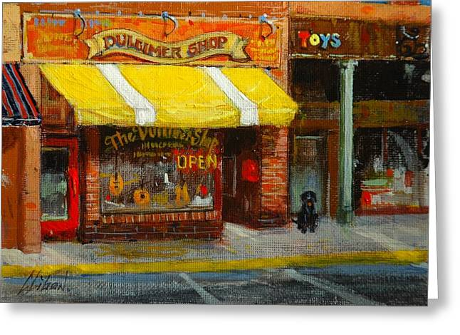 Toy Shop Paintings Greeting Cards - Come on over Greeting Card by Greg Clibon