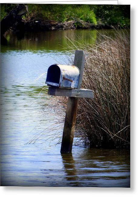 Postal Greeting Cards - Come Rain or Shine or Boat Greeting Card by Karen Wiles