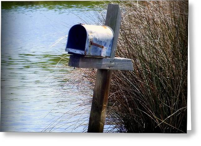 Come Rain or Shine or Boat Greeting Card by KAREN WILES