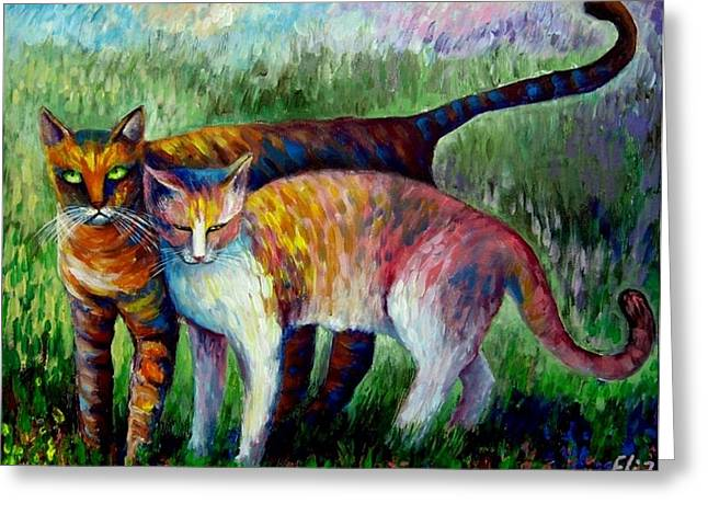 Elisheva Nesis Greeting Cards - Come To See My Parents Greeting Card by Elisheva Nesis
