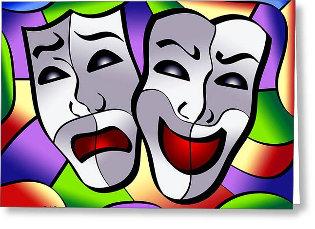 Applause Greeting Cards - Comedy and Tragedy Greeting Card by Stephen Younts