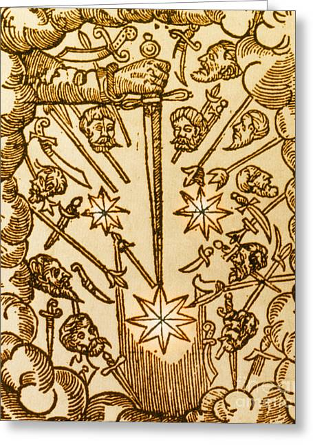 Bad Drawing Photographs Greeting Cards - Comet, 1665 Greeting Card by Science Source