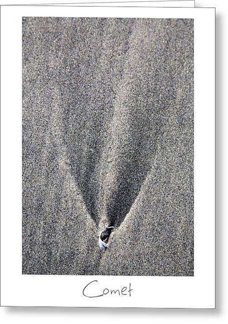 Sand Art Greeting Cards - Comet Greeting Card by Peter Tellone