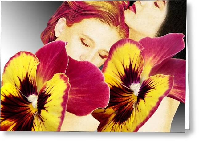 Floral Digital Art Digital Art Greeting Cards - Comfort Greeting Card by Torie Tiffany