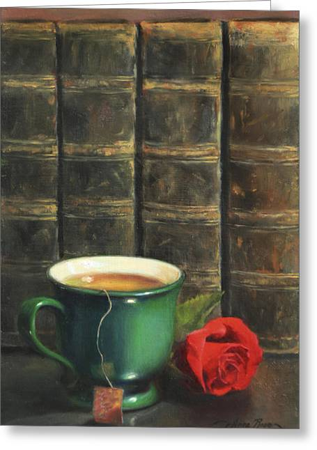 Tea Bag Greeting Cards - Comforts of Old Greeting Card by Anna Bain
