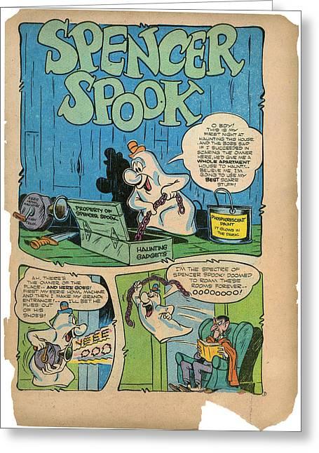 Comic Strip Greeting Cards - Comic Strip: Spencer Spook Greeting Card by Granger