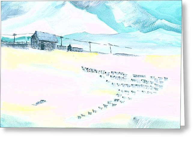 Coming Home Greeting Card by Anil Nene