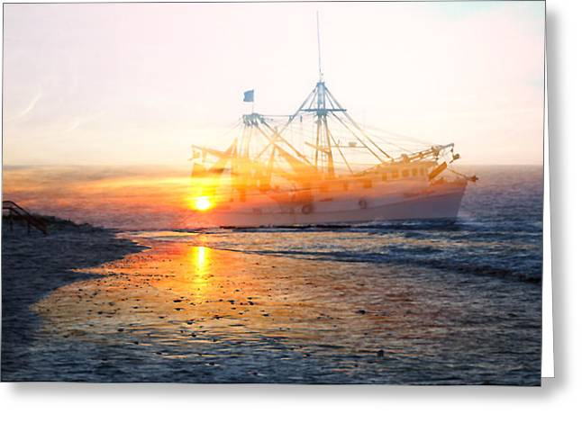 Topsail Island Greeting Cards - Coming Home Greeting Card by Betsy A  Cutler