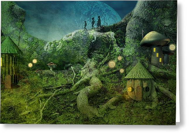 Dwelling Digital Art Greeting Cards - Coming home Greeting Card by Carol and Mike Werner