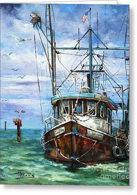 Fishing Boats Greeting Cards - Coming Home Greeting Card by Dianne Parks