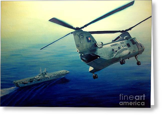 Helicopters Greeting Cards - Coming Home Greeting Card by Stephen Roberson