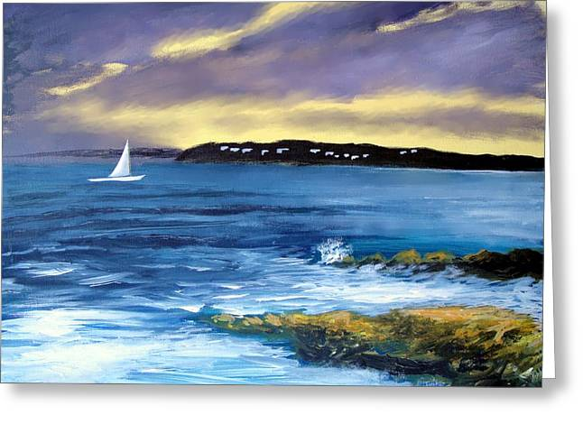 Larry Cirigliano Greeting Cards - Coming Of The Storm Greeting Card by Larry Cirigliano