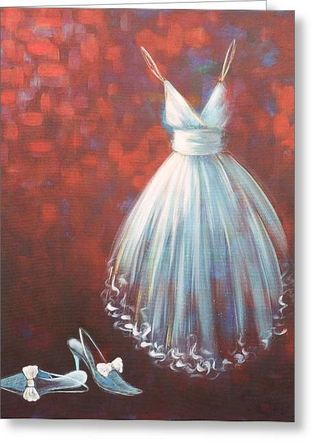 Best Sellers -  - Ball Gown Greeting Cards - Coming Out Greeting Card by Nicola Hill
