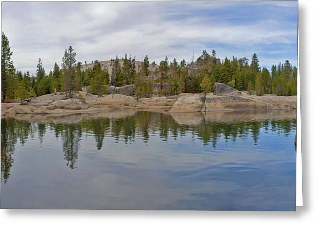Larry Darnell Greeting Cards - Coming Storm Lake Utica Sierra Nevada Landscape Panorama Larry Darnell Greeting Card by Larry Darnell