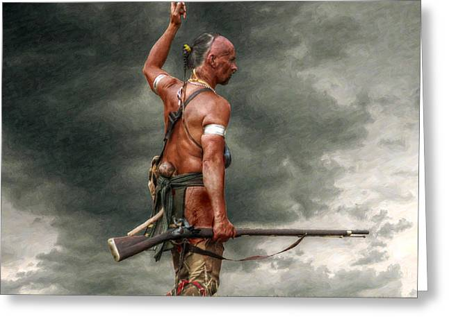 Warrior Greeting Cards - Coming Storm Greeting Card by Randy Steele